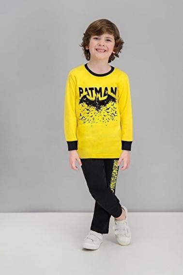 Batman Batman Lisanslı Sarı Erkek Çocuk Pijama Takımı Sarı